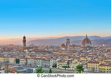 firenze, veduta città, italia