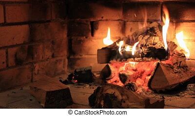 Fireplace bonfire - Stone fireplace bonfire