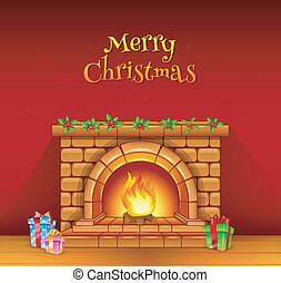 Fireplace - Vector illustration of Fireplace