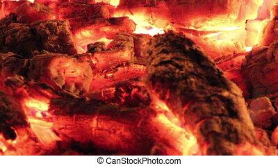 Fireplace - close-up blaze of fireplace