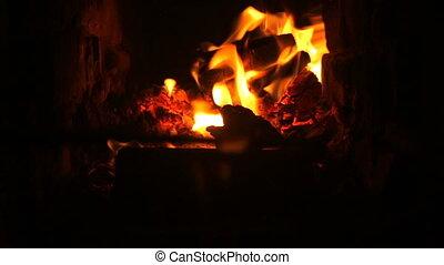 Fireplace fire water heater heating comfort - Fireplace fire...