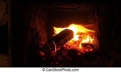 Fireplace fire water heater heating comfort