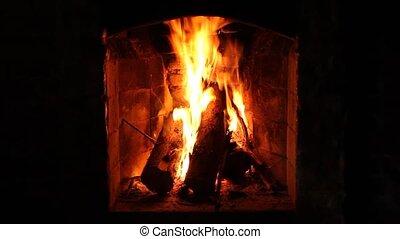 Fireplace - A Fireplace closeup.