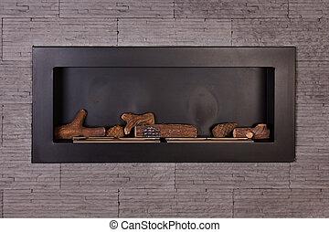 fireplace., nowoczesny