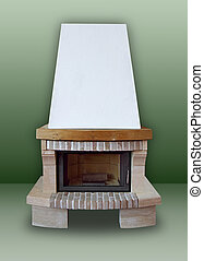 Fireplace ??of brick