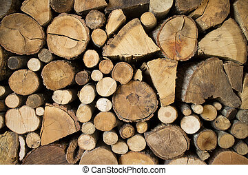 Fireplace pile of wood