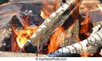 fireplace with burning flame