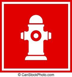 Fireplug vector sign