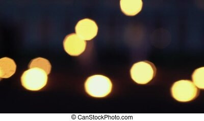 Fireshow bokeh at night shot