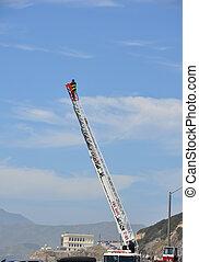 firetruck, escalera