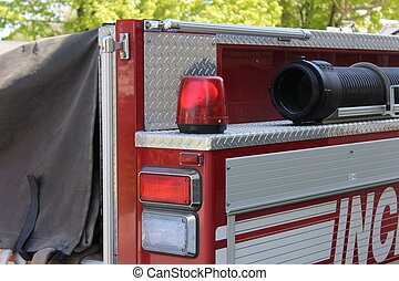 Firetruck hose and Emergency lights