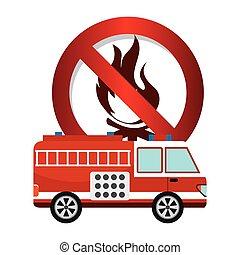 firetruck signal design, vector illustration eps10 graphic