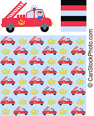 firetruck - three different patterns for childrens clothes