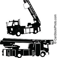 firetruck, -, vector