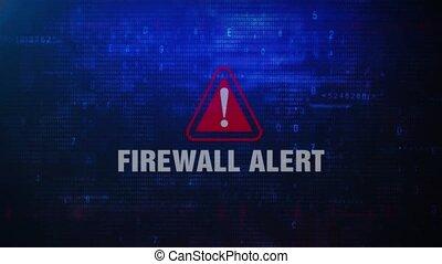 Firewall Alert Warning Error Message Blinking on Screen .