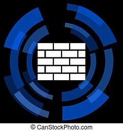 firewall black background simple web icon