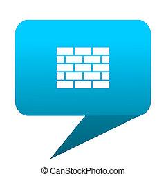firewall blue bubble icon