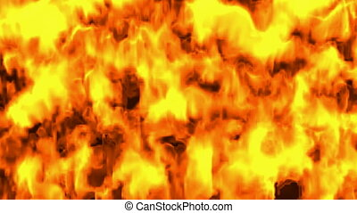 Firewall. CG. hd - Animation of a wall of fire.