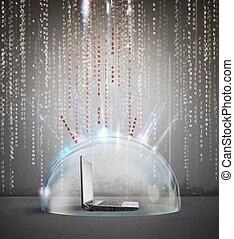firewall, concetto, antivirus