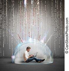 firewall, e, antivirus, conceito