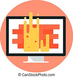Firewall flat style, colorful, vector icon