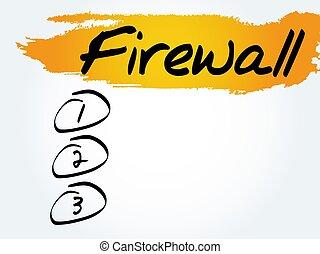 firewall, lijst, leeg