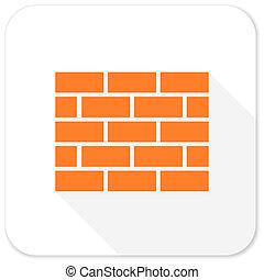 firewall, plat, pictogram
