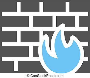 Firewall, protection, secure icon vector image.Can also be...