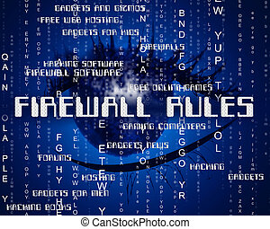 Firewall Rules Indicates No Access And Words