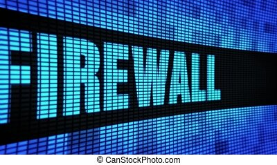 Firewall Side Text Scrolling LED Wall Pannel Display Sign ...