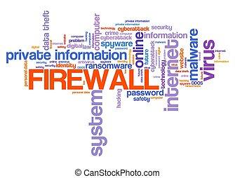 Firewall text sign