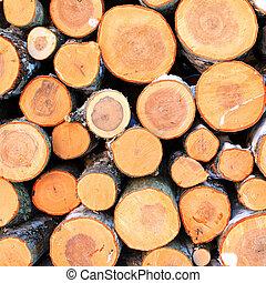 firewood aheap