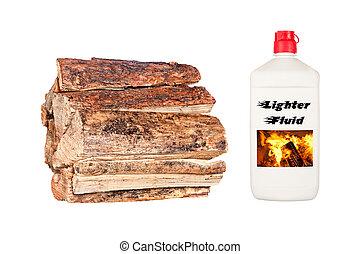 Firewood and Starter Fluid
