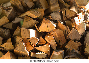 firewood as background