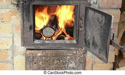 firewood burn fire stove