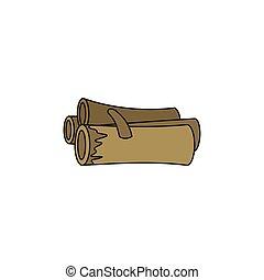 Firewood cartoon icon