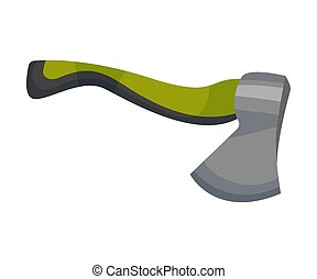 Firewood cutting ax. Vector illustration on a white background.