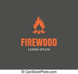 Firewood emblem template