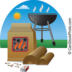 firewood for barbecue