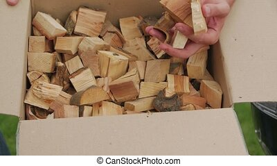 Firewood for grill wood chunks for barbecue