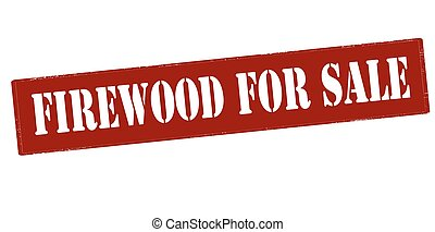 Rubber stamp with text firewood for sale inside, vector illustration`