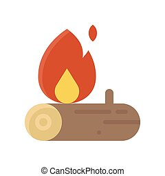 Firewood icon, Thanksgiving related vector illustration
