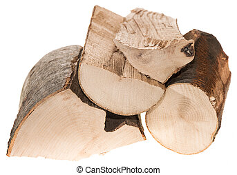 Firewood isolated on white background