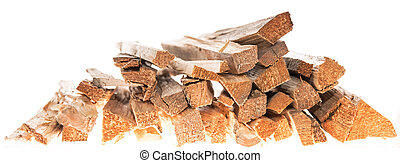 Firewood isolated on white