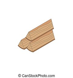 Firewood isometric icon