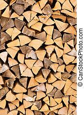 Firewood logs wood background