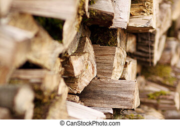 Firewood - Stack of chopped firewood.