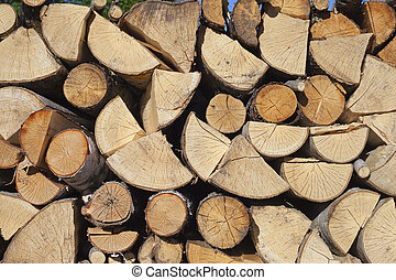 Firewood. - Stack of firewood.