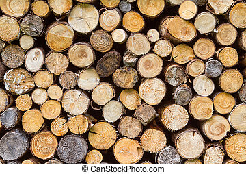 Firewood Stacked Background