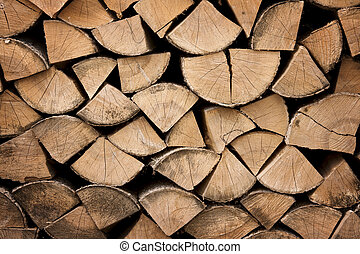 Firewood texture, after the sawing wood